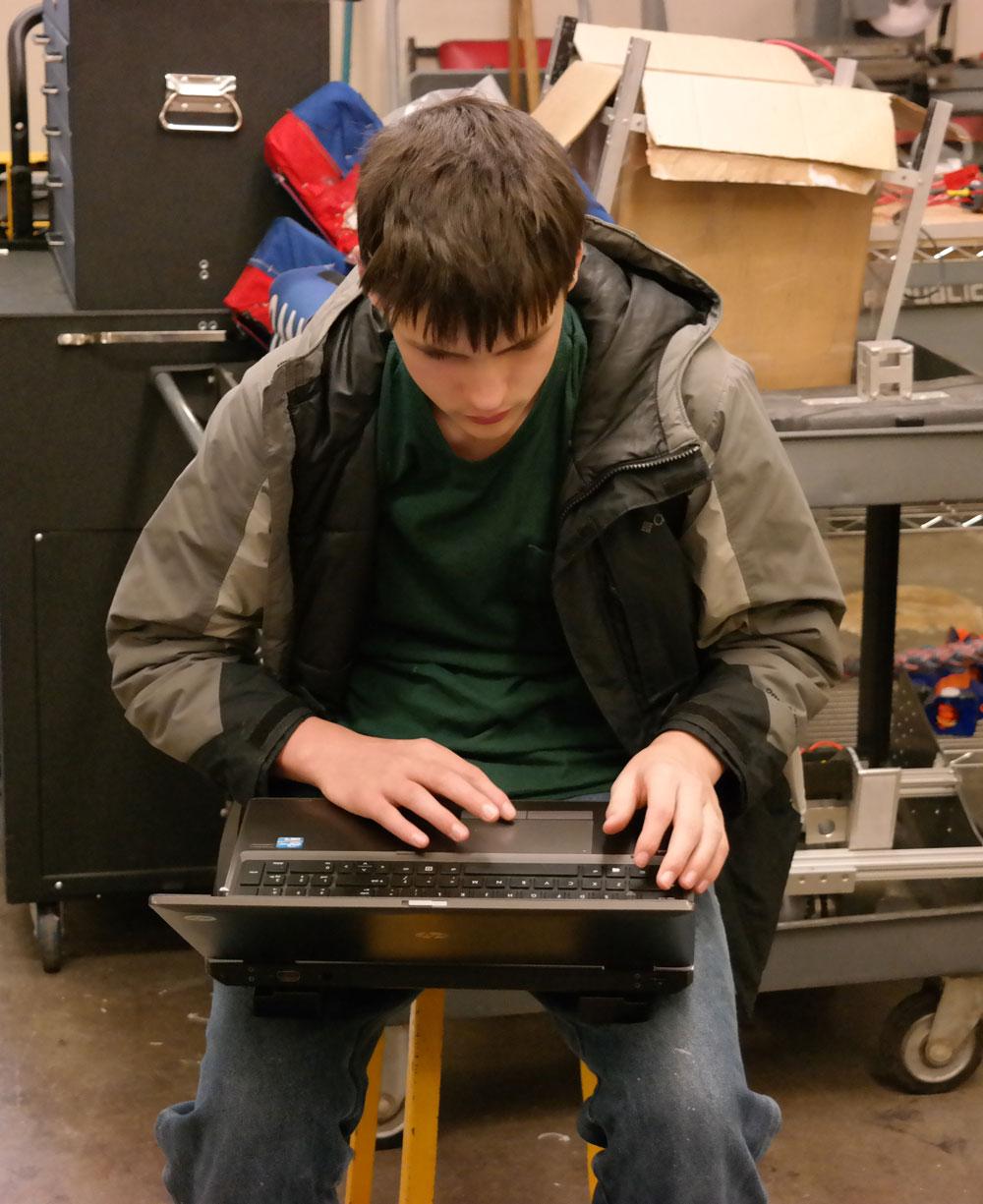 James working hard
