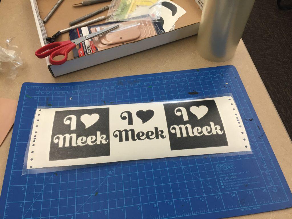I Love Meek stickers