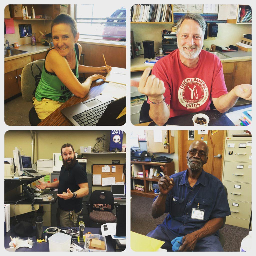 Ms. Ross, Mr. Kane, Mr. Eaton and Brother Askari Fall 2016